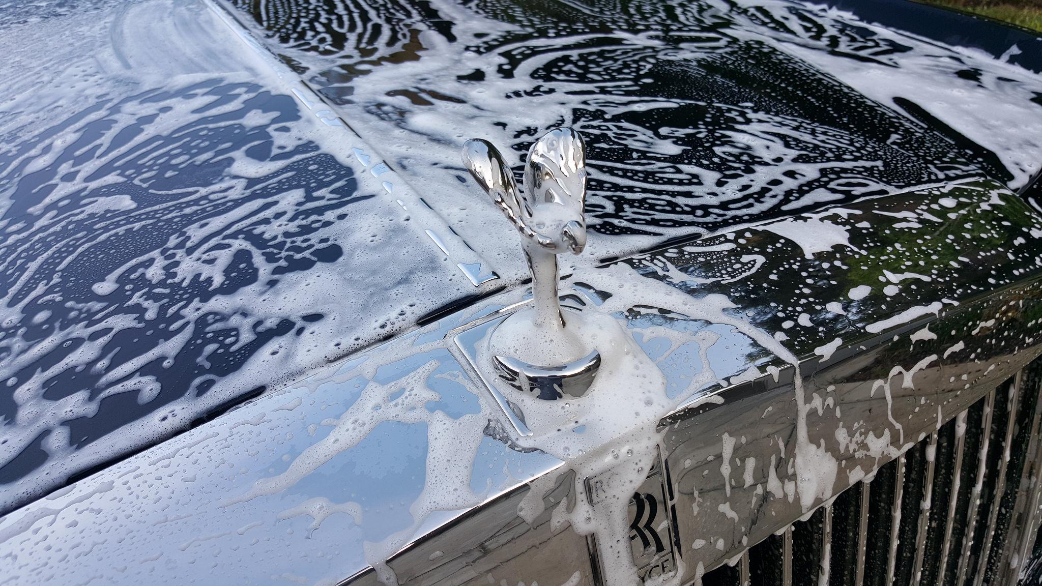 Rolls Royc Car Wash detailing polished